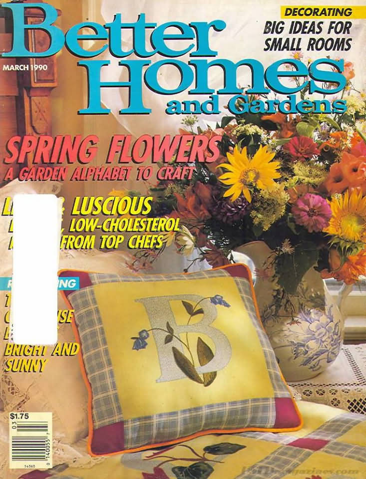 Better homes and gardens march 1990 product details Better homes and gardens march