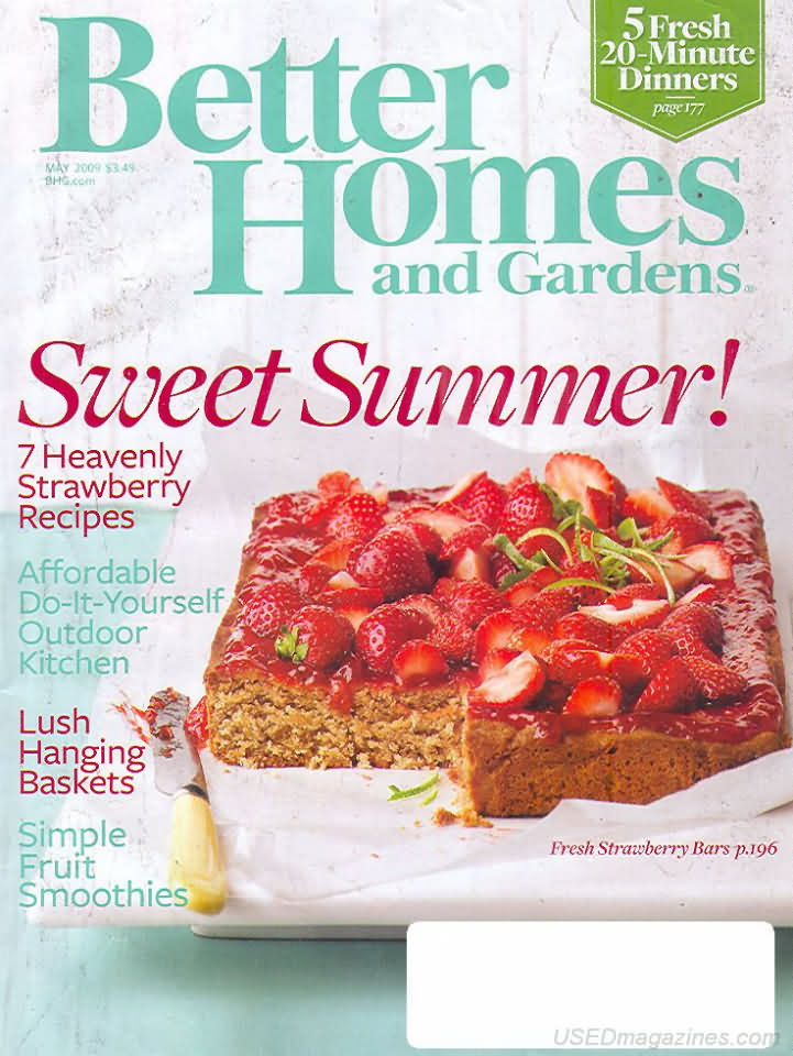 Better homes and gardens may 2009 Better homes and gardens current issue
