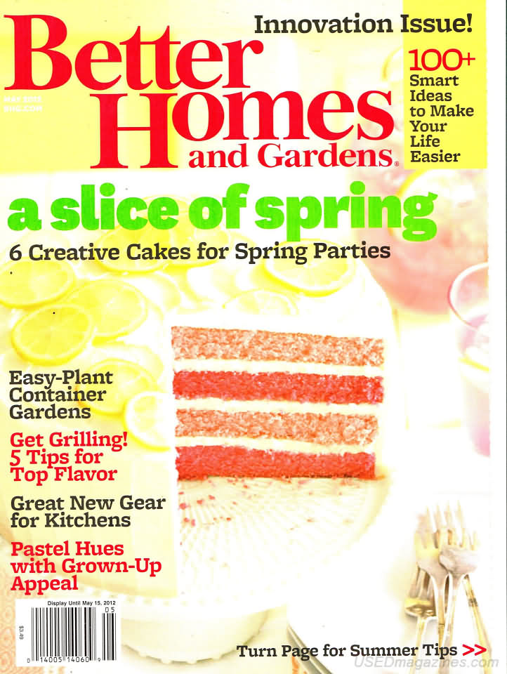 Better Homes And Gardens May 2012 Product Details
