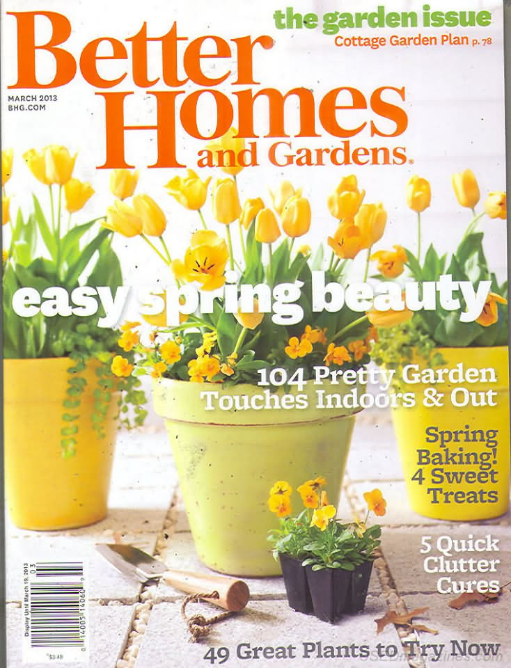 Better homes and gardens march 2013 Better homes and gardens current issue