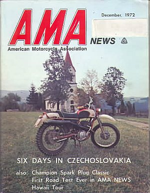 American Motorcycle Association News December 1972