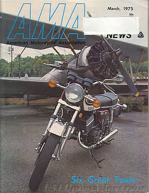 American Motorcycle Association News March 1975