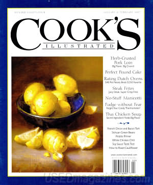 Thus the Cook's Illustrated spin-offs of Cook's Illustrated Online, America's Test Kitchen, Cook's Country and The Best Recipe Cookbooks. I've had a subscription to the website for sometime now, and it's always been handy. It's an instant index to the paper issues, for one.