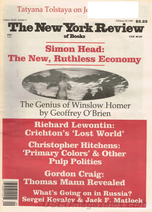 New York Review of Books February 29, 1996