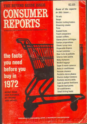 Consumer Reports Annual Buyers Guide 1972