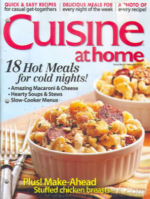 Cuisine at home February 2012