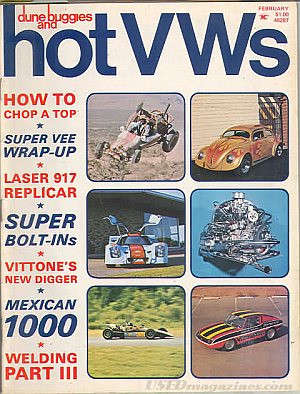 Dune Buggies and Hot VWs February 1973
