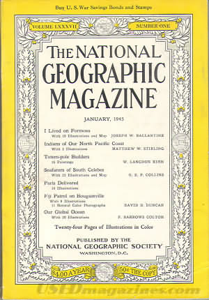 National Geographic January 1945