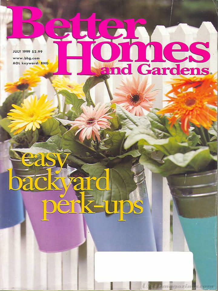 Better Homes And Gardens July 1999 Product