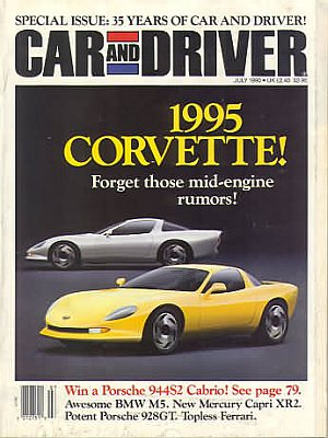 Car and Driver July 1990