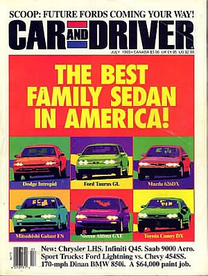 Car and Driver July 1993