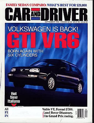 Car and Driver September 1994