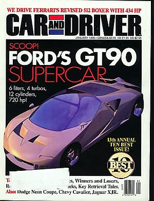 Car and Driver January 1995