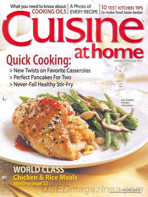 Cuisine at home February 2010