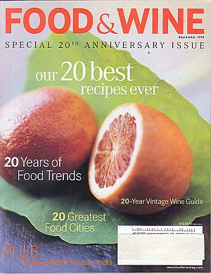 Food & Wine September 1998