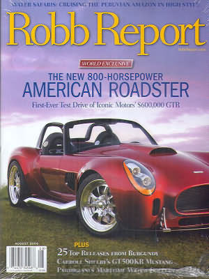 Robb Report August 2008
